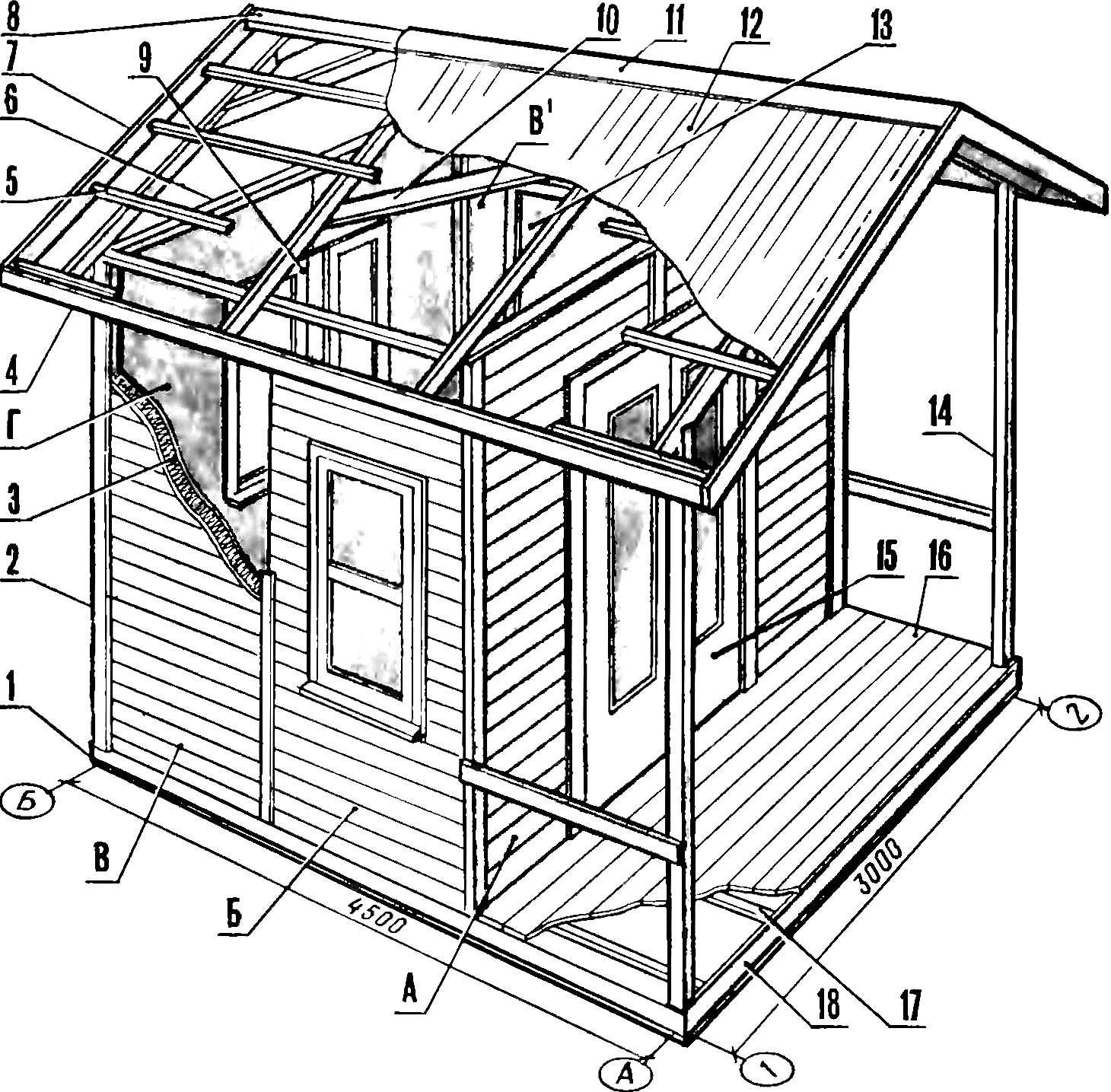 Рис. 3. Хозблок щитовой конструкции.