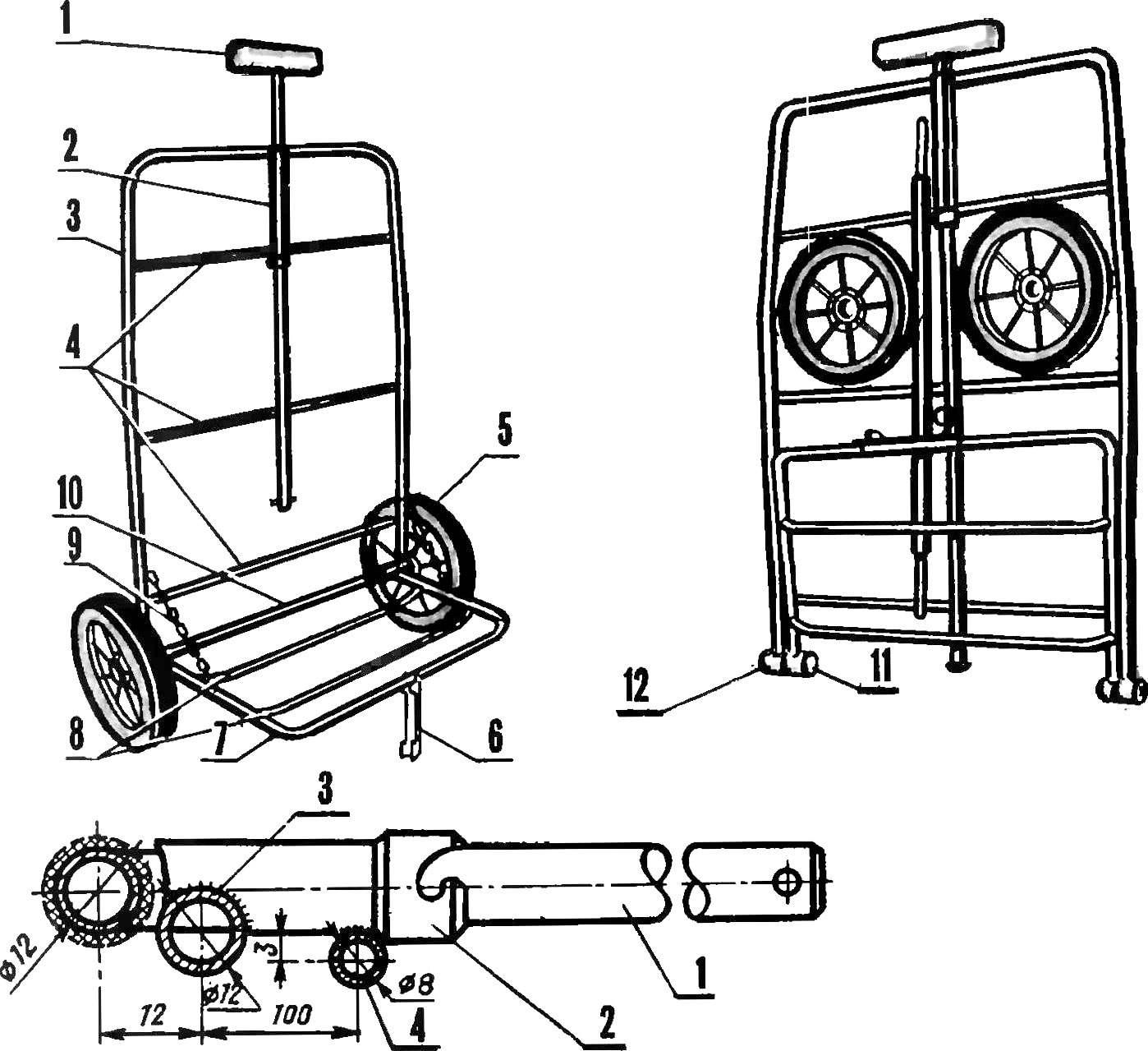 Universal foldable trolley.