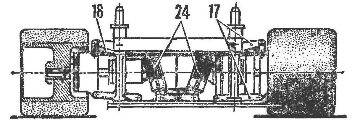 Конструкция ходовой части радиоуправляемой автомодели