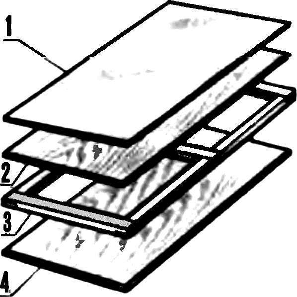 Рис. 5. Схема сборки дверцы шкафа.