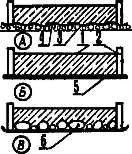 Рис. 3. Варианты изготовления плиток с рельефной поверхностью.