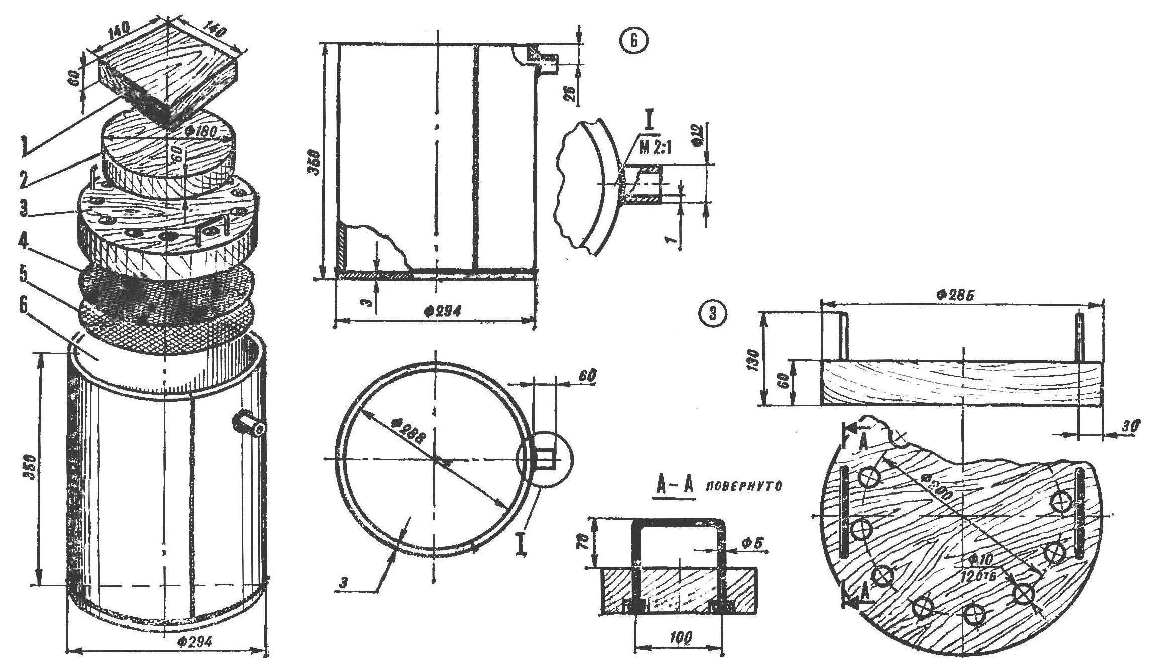 Рис. 1. Бак с комплектом для прессования