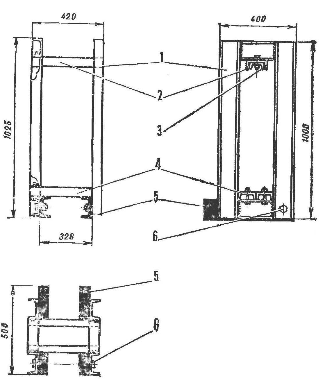 R and p. 2. Frame press