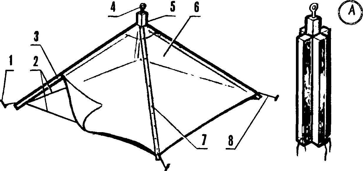 Общий вид теплицы-«зонтика».