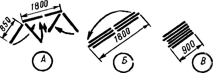 Схема складывания теплицы.