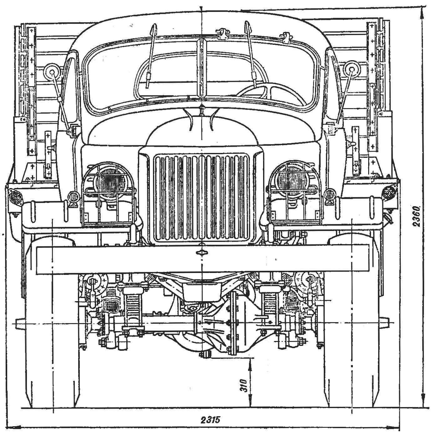 Автомобиль ЗИЛ-157 (вид спереди).