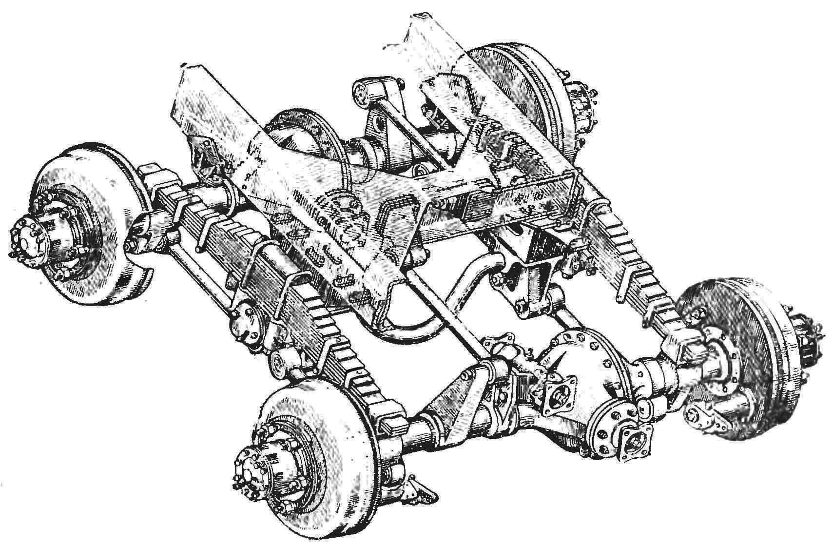 R and p. 5. Appearance suspension rear axles.