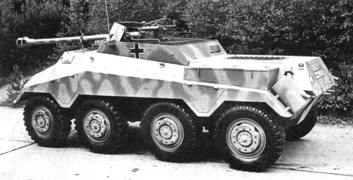 Бронеавтомобиль Sd.Kfz.234/4 с противотанковой пушкой Pak 40
