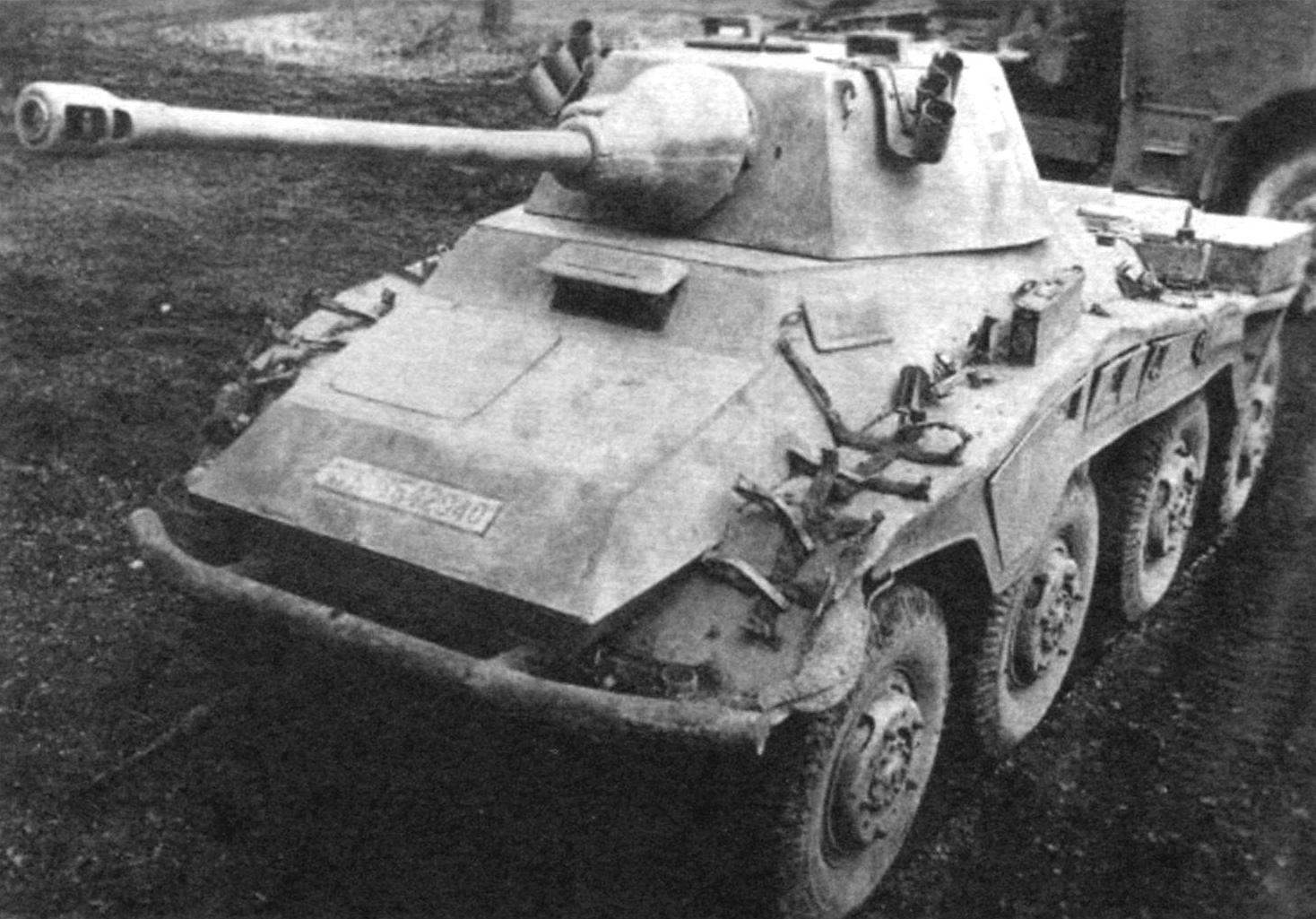 Armored Car Sd.Kfz.234/2 is considered the best heavy armored car of the Second world war