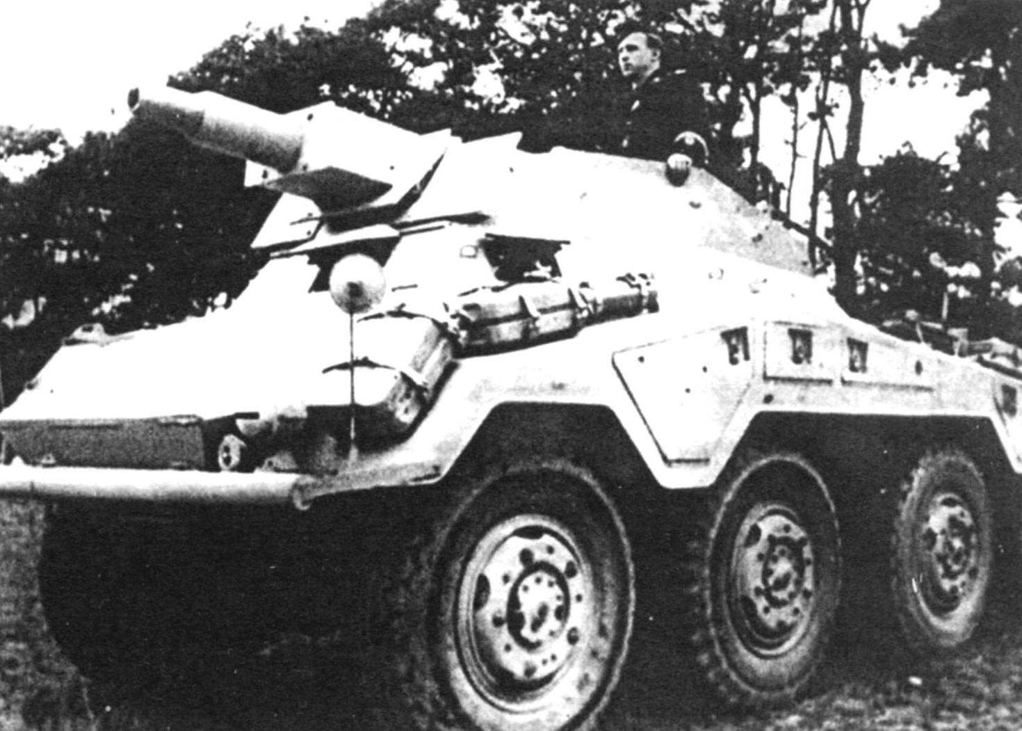 Armored Car Sd.Kfz.234/3 with the short-barreled 75-mm gun