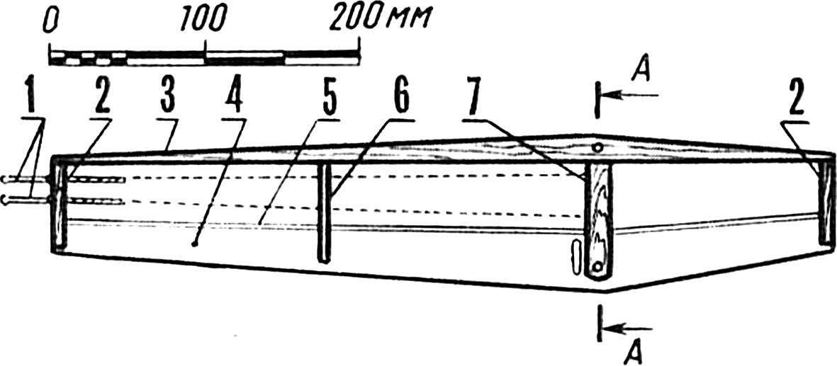 Крыло модели (фанерный объемный вариант).