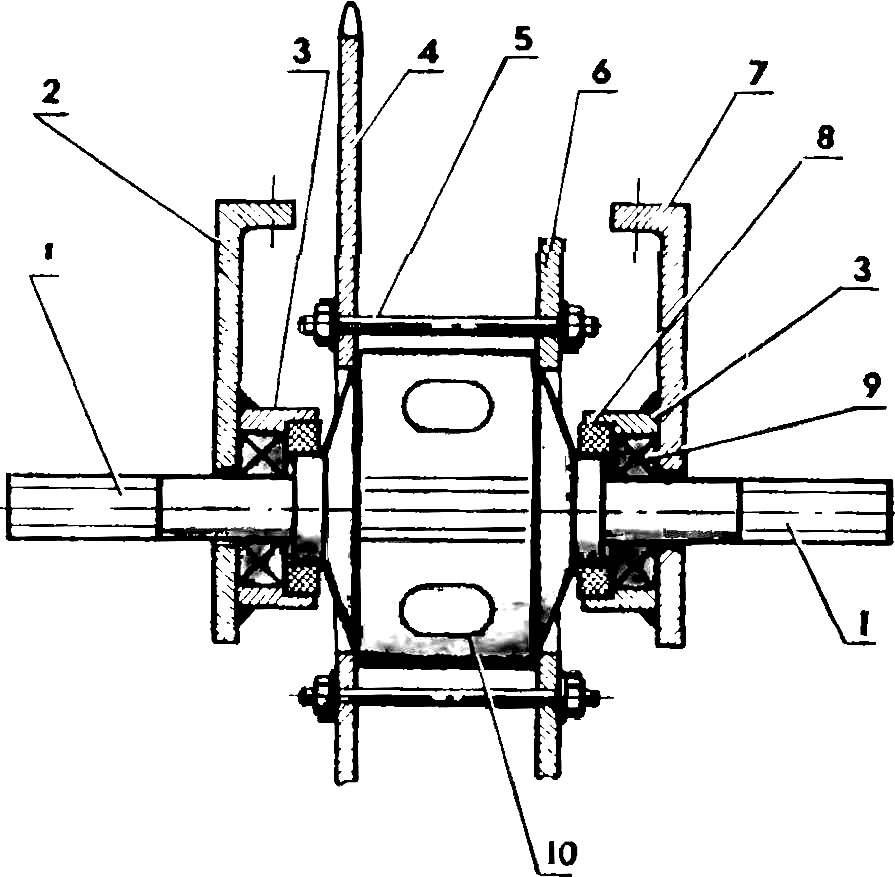 Схема установки дифференциала.