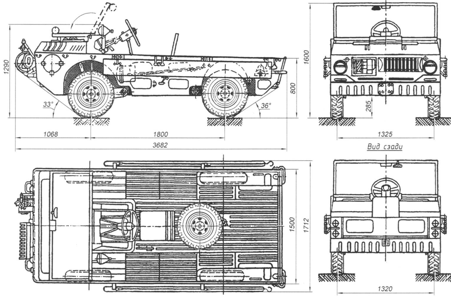 General view and main dimensions of TPK LUAZ-967