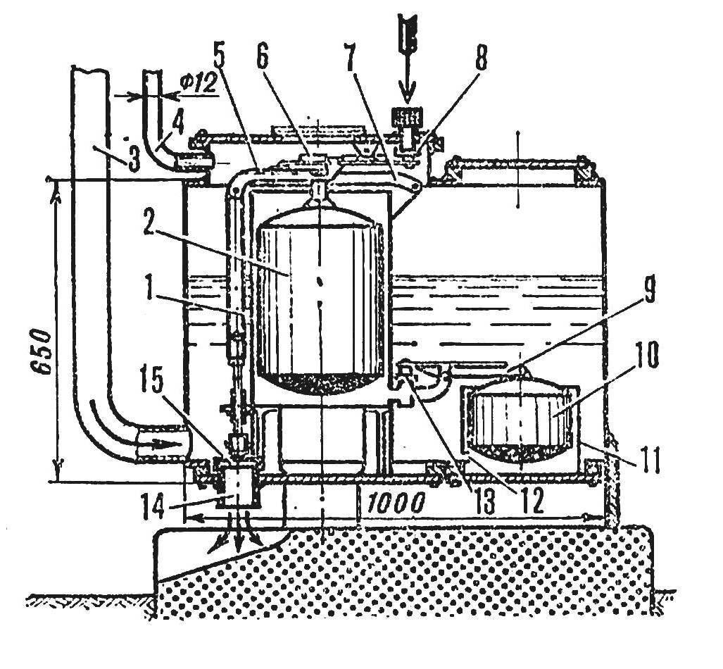 Р и с. 2. Клапанный механизм воздушного бака