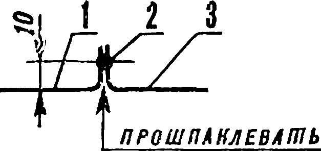 Рис. 6. Типовой стык панелей кузова.
