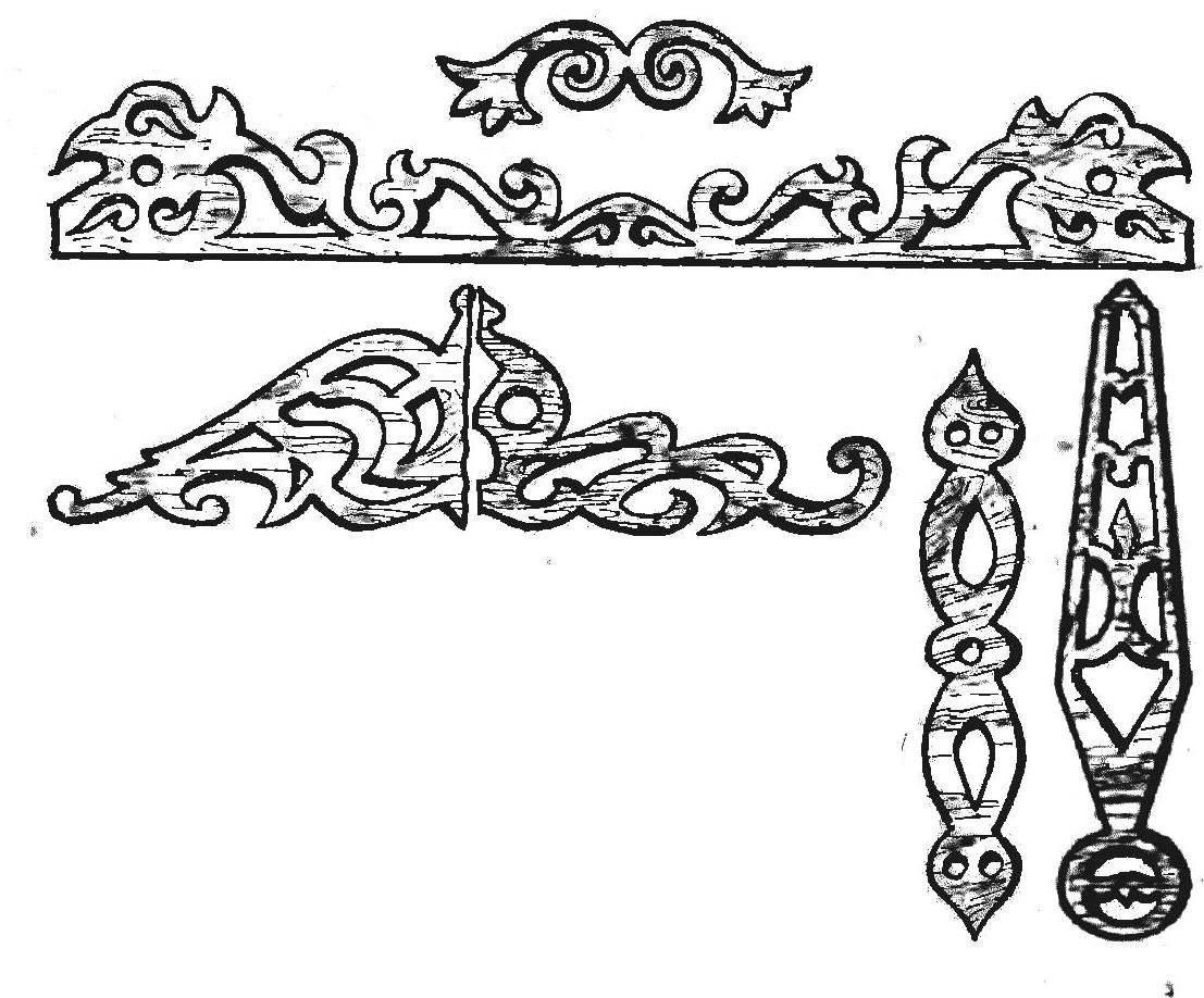 Рис. 11. Прорезная резьба и приспособление для ее выполнения.
