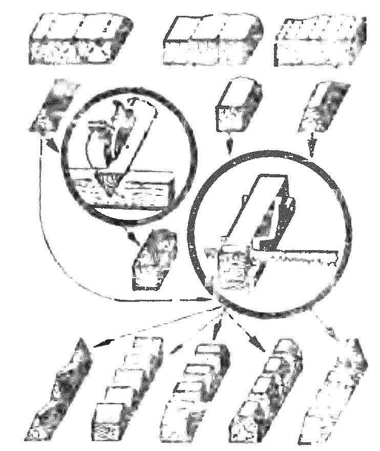 Рис. 12. Детали украшения наличников и их оформление пропилами.