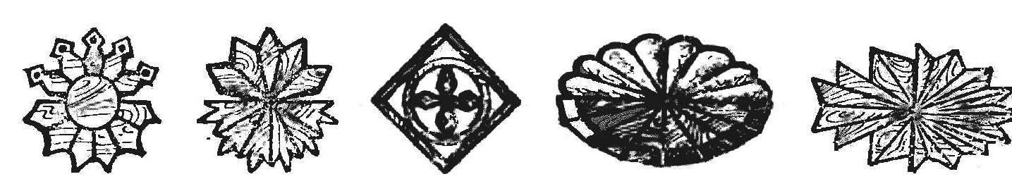 Рис. 13. Сборные розетки: круглые, квадратная, эллиптические