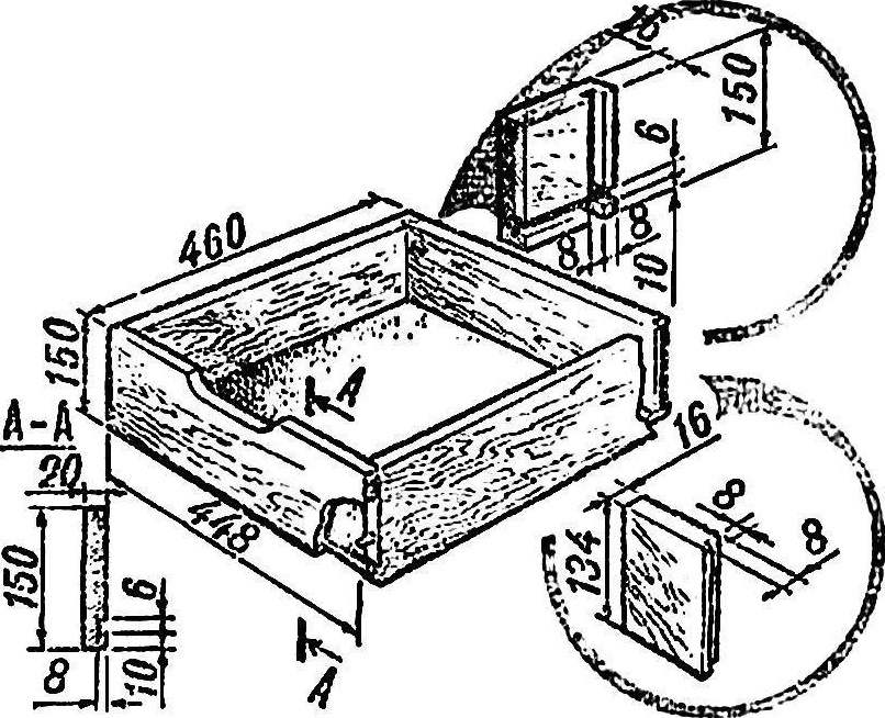 Ящик тумбочки.