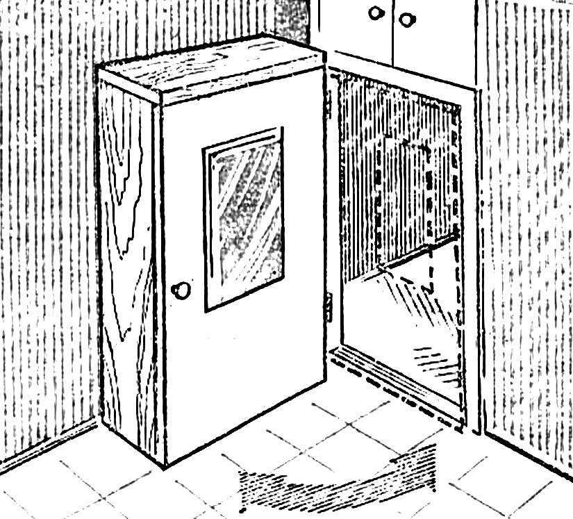 CLOSET BEHIND DOOR