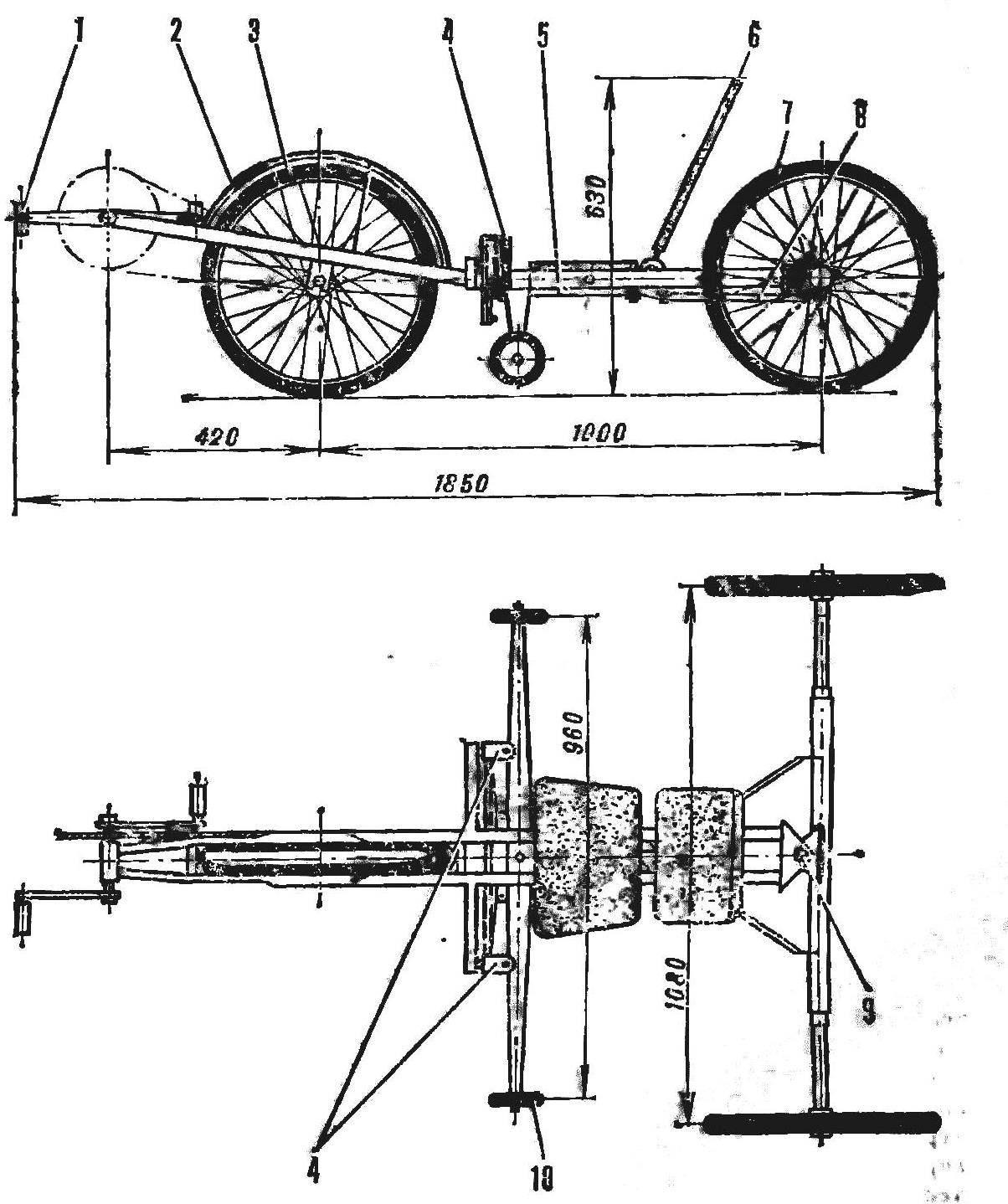 Общее устройство и габариты велокарта
