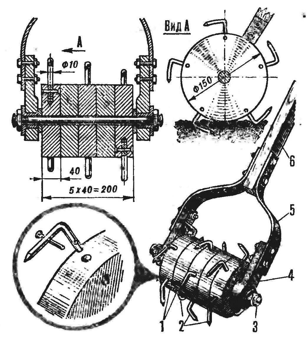 Рис. 2. Зубчатый культиватор