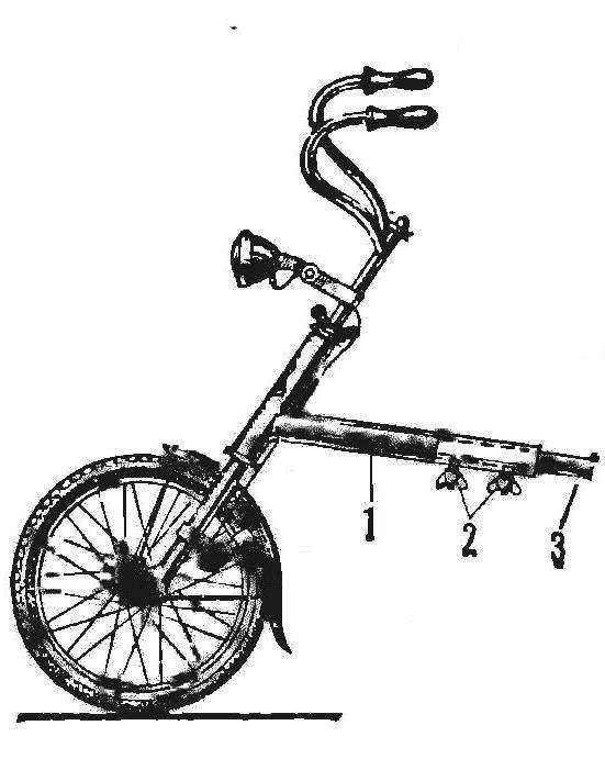 Рис. 2. Раздвижной велосипед