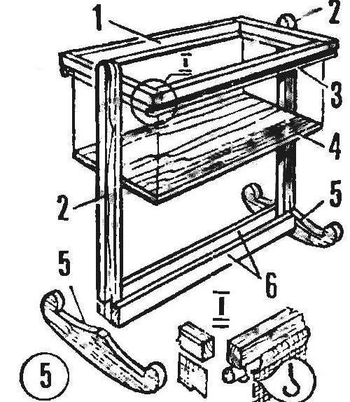 Fig. 1. Wooden base bassinet