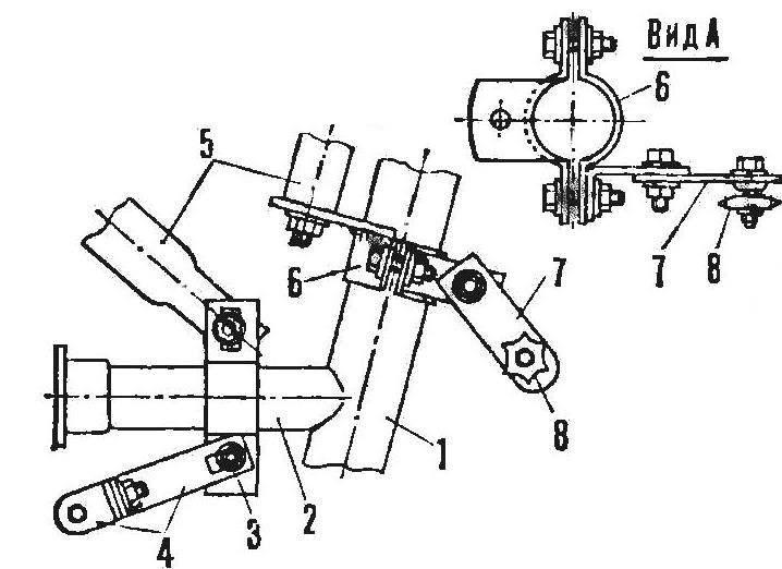 Р и с. 4. Крепление двигателя