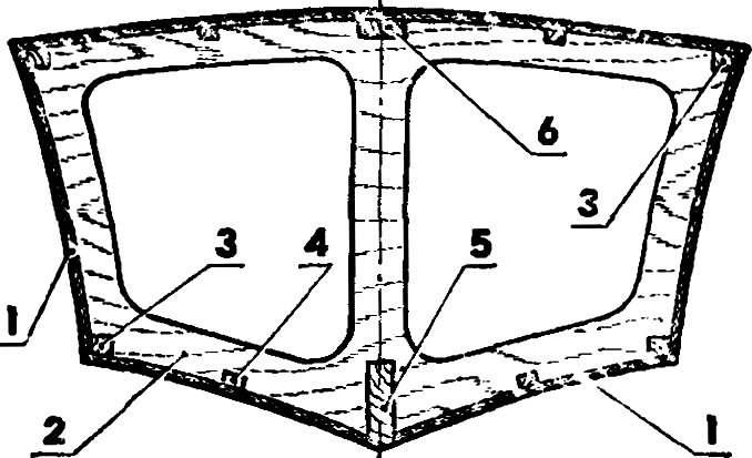 Конструкция типового шпангоута.