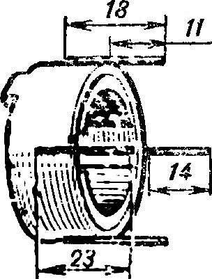 Рис. 2. Размещение штырей на корпусе двигателя.