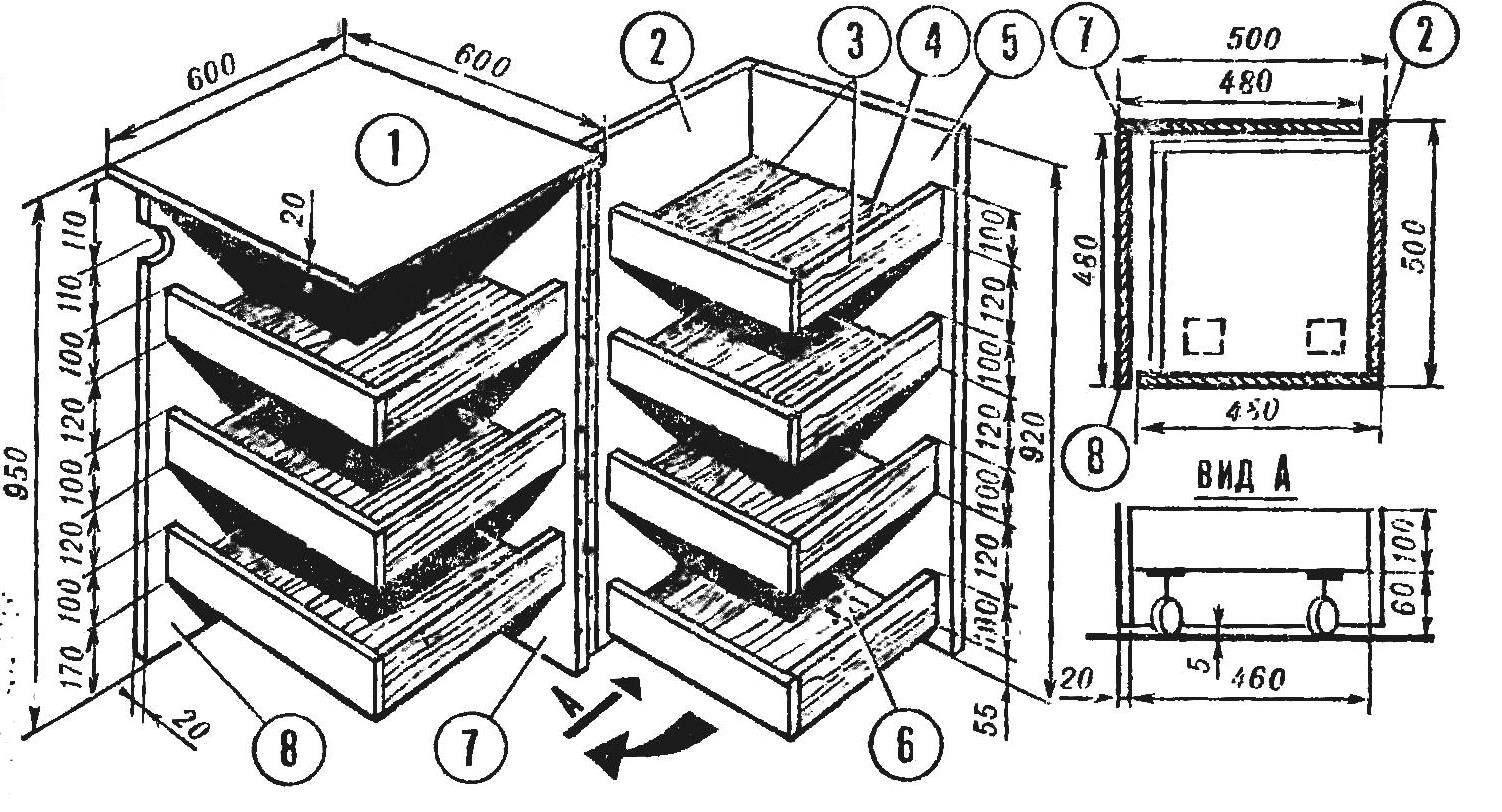 Рис. 2. Стол-шкаф