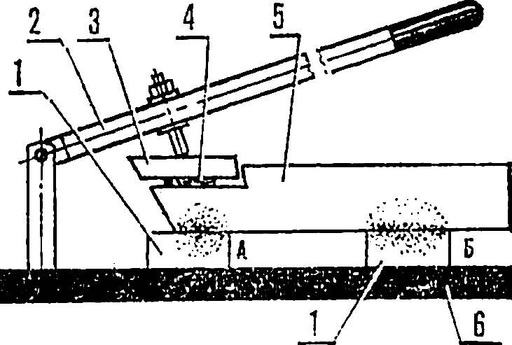 Fig. 3. Contact area of the device.