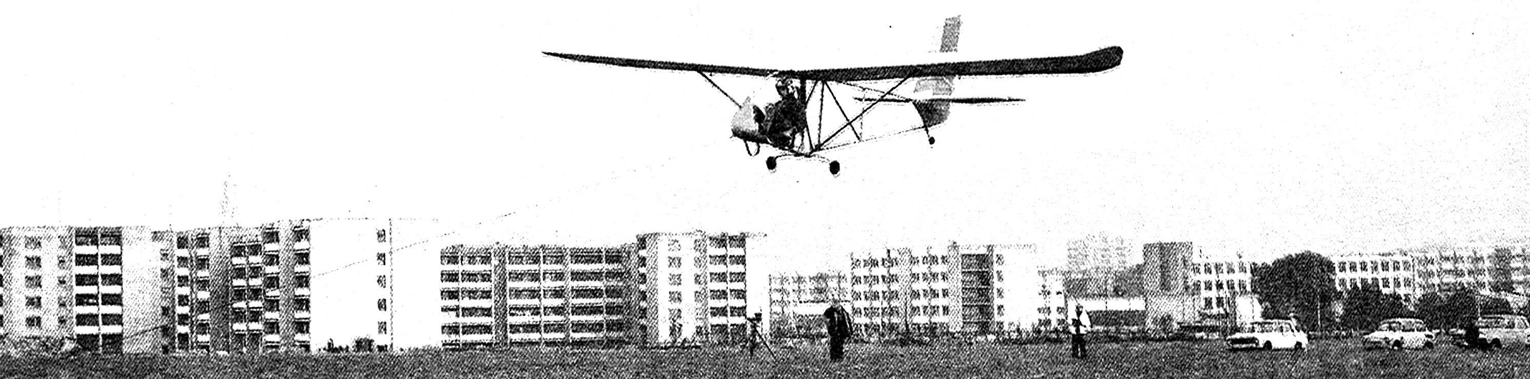In the air — glider LAK-16 created on Prenasam glider factory DOSAAF.