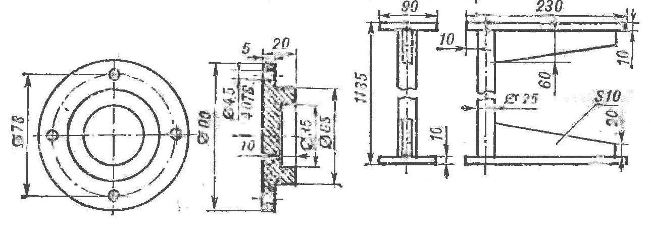 Fig. 3. Additional bracket for shelves
