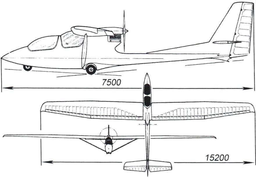 Двухместный мотопланёр «Аэропракт-18» (СКБ КуАИ)