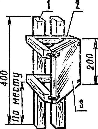 Рис. 3. Устройство зеркала-«светофора».
