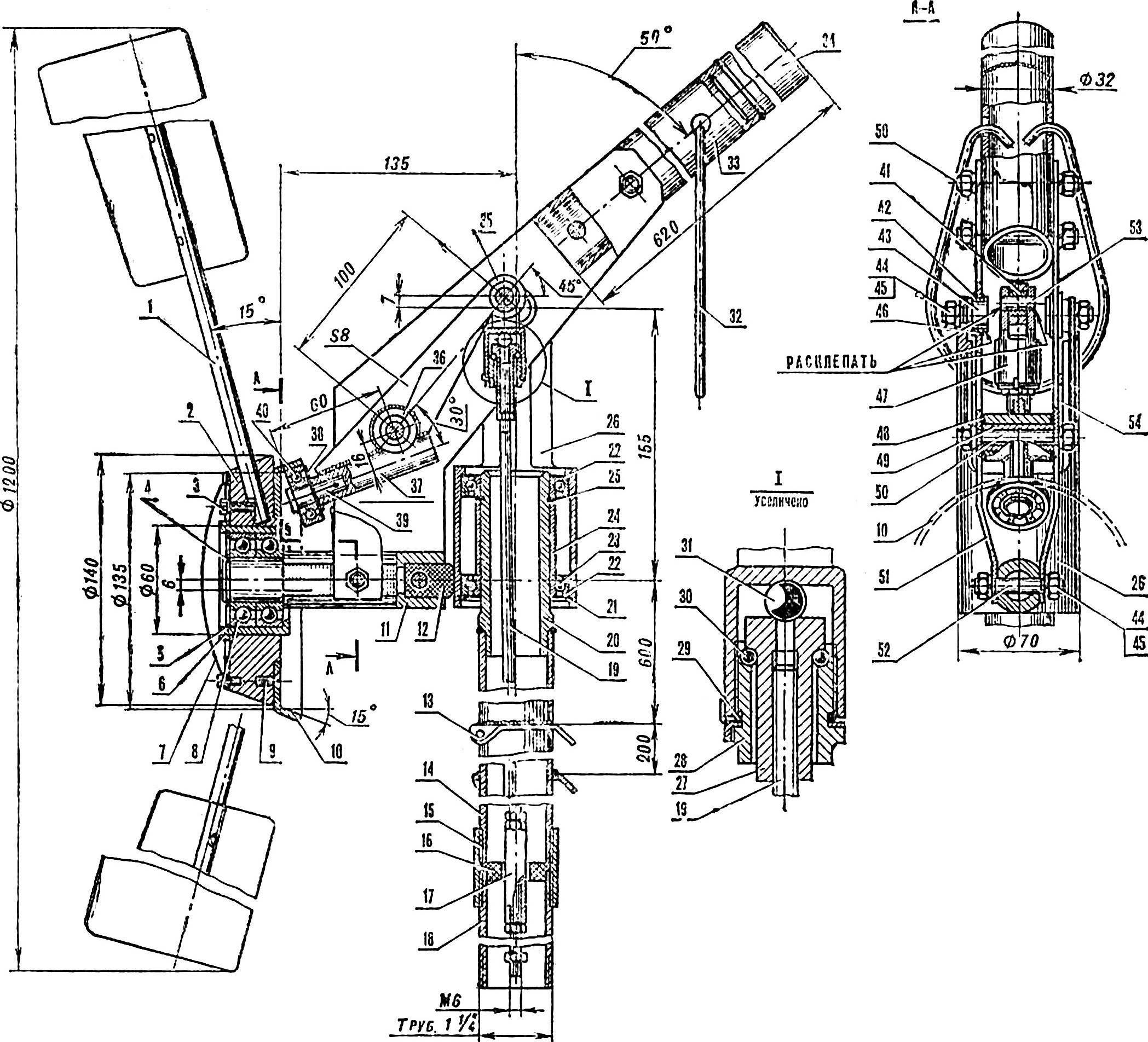Рис. 2. Устройство ветродвигателя.
