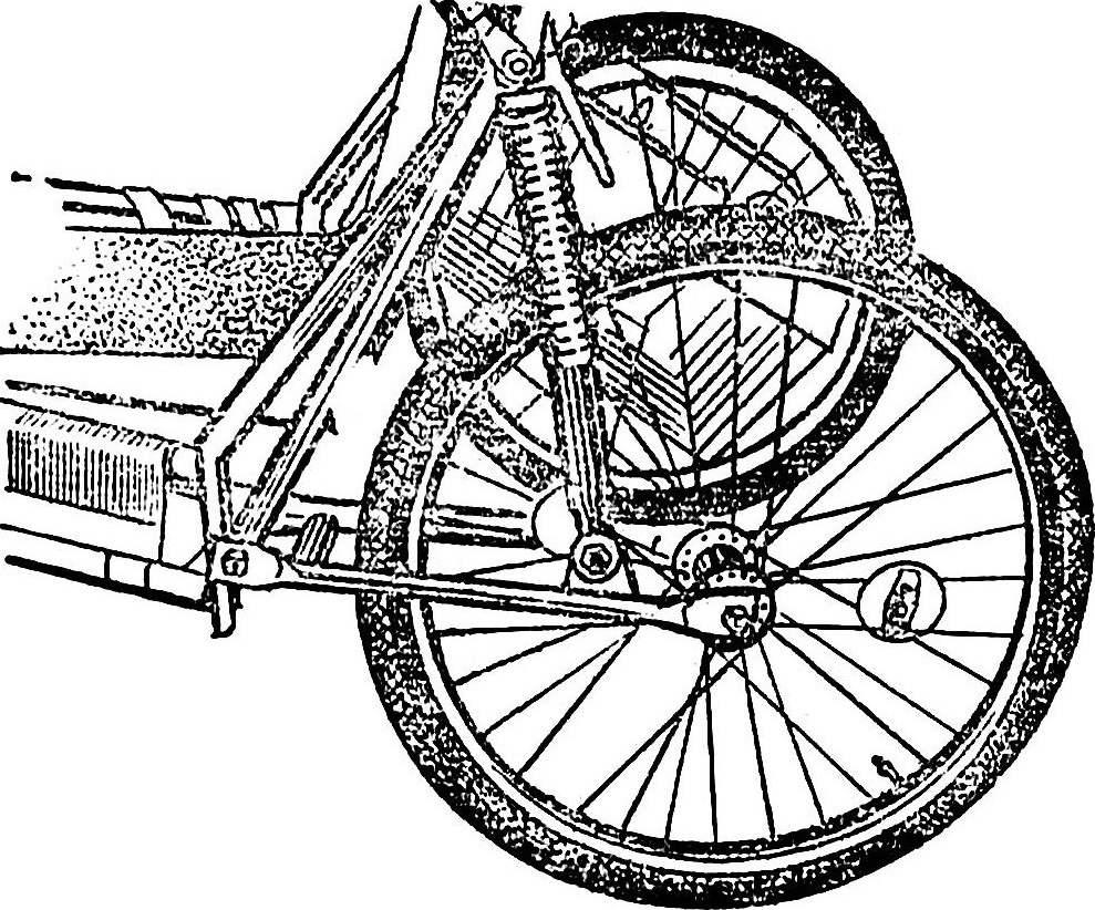Все чаще конструкторы веломобилей применяют для подвески колес пружинные амортизаторы.