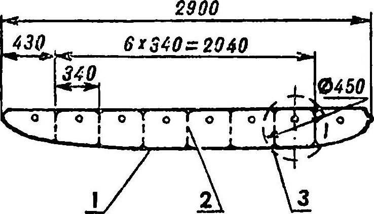Рис. 7. Схема поплавка на основе пластиковых мячей.