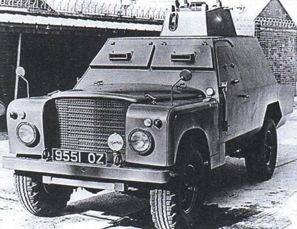 The armoured car Shorland Mark I with a turret from the Ferret armoured personnel carriers with 7.62-mm machine gun Browning. 1965.