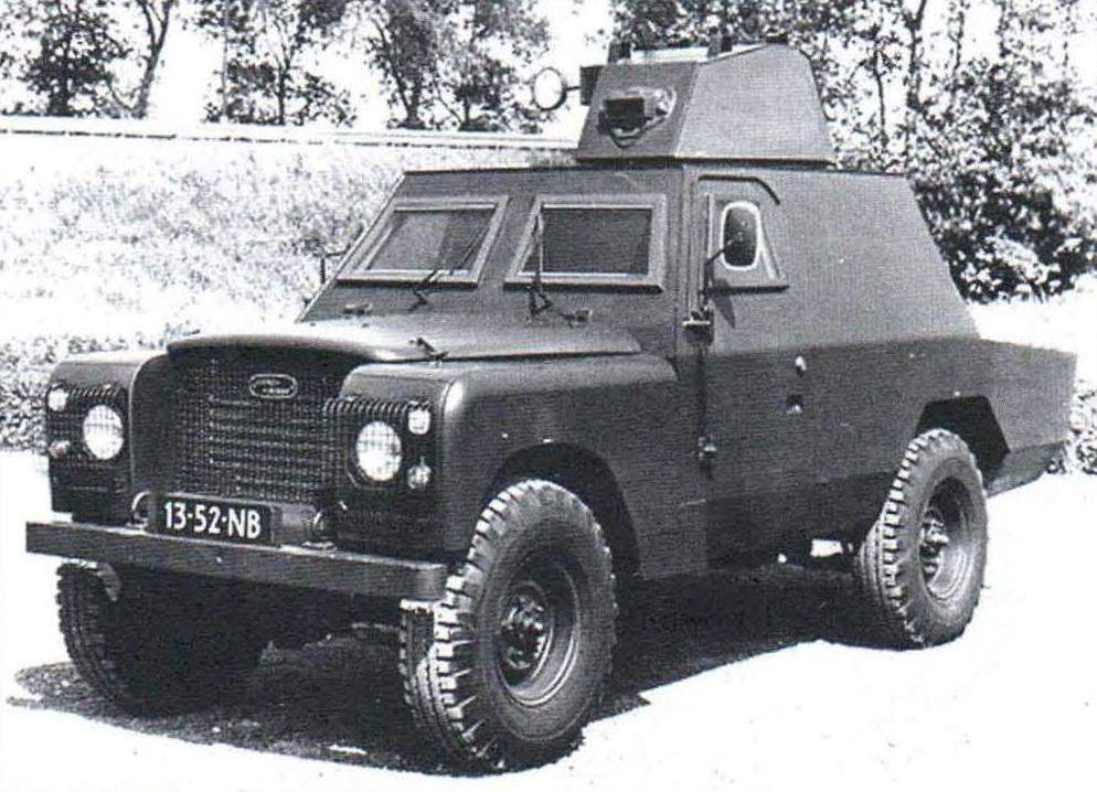 Police option blower SB 303. Tower specially adapted for firing from a sniper rifle. 1975.