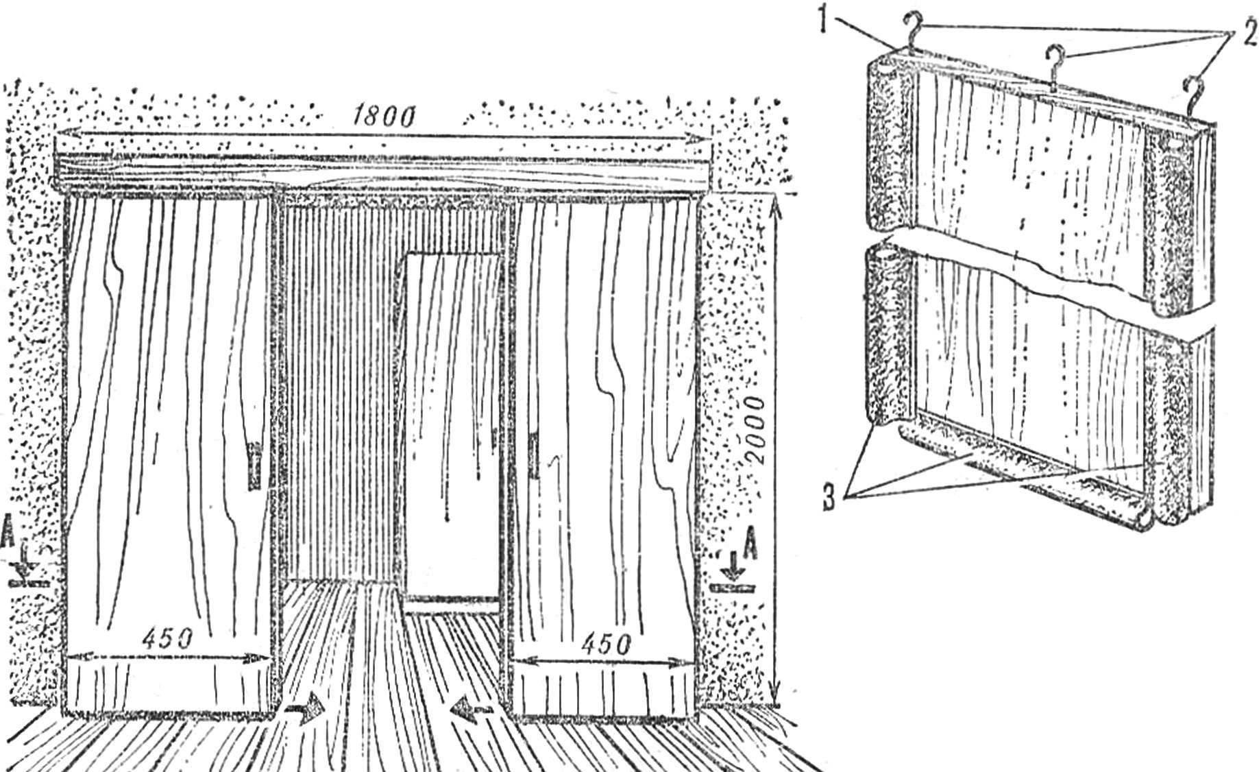 Рис. 2. Обивка двери гибкими накладками