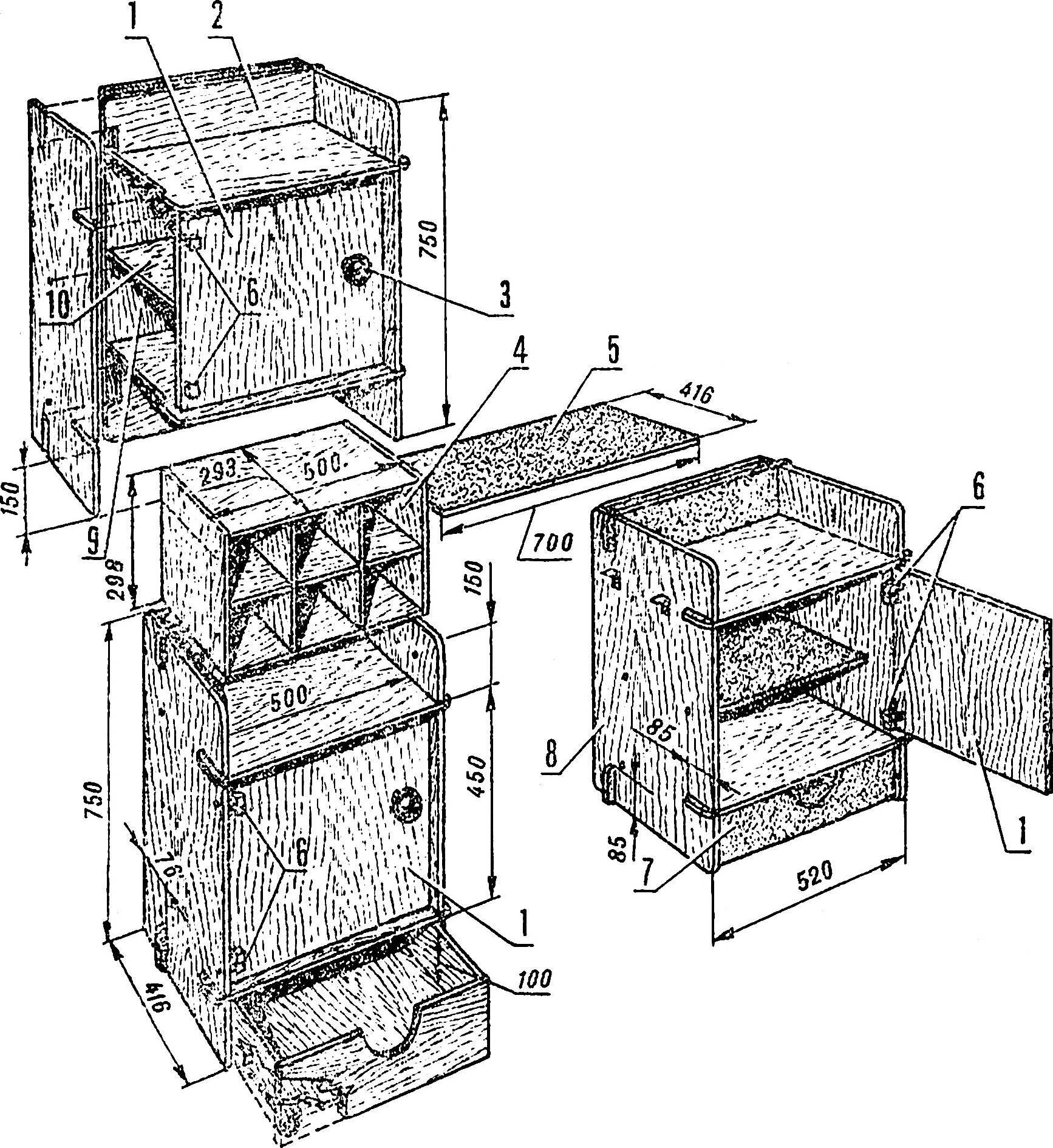 Рис. 2. Мебельная секция.