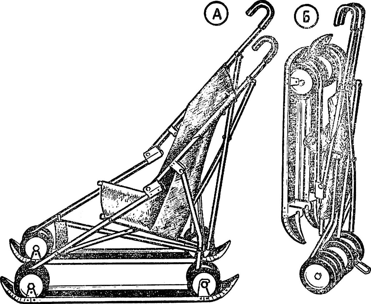 Fig. 1. Stroller skiing.