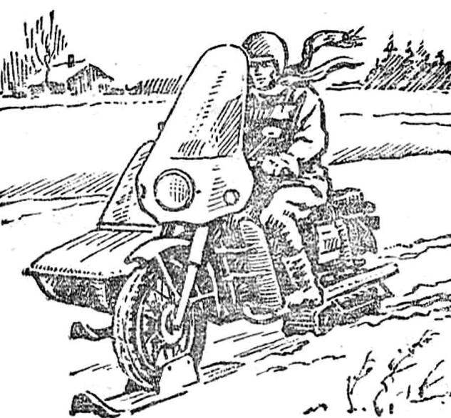 IN THE SUMMER OF THE MOTORCYCLE IN THE WINTER - SNOWMOBILE