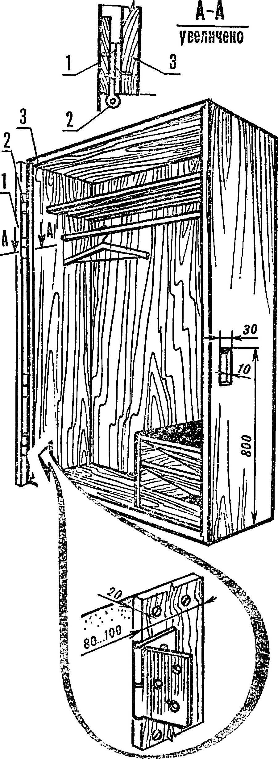 Рис. 4. Поворотный вариант передвижного шкафа.
