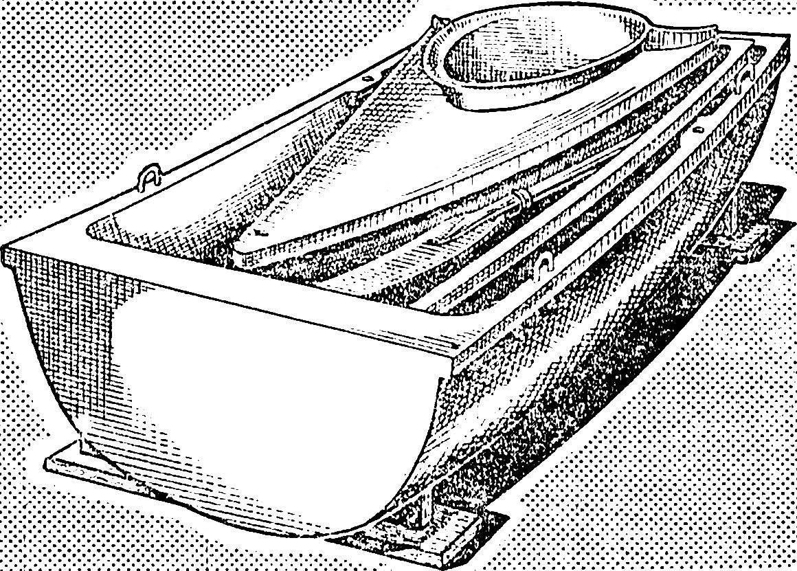 Лодка в сложенном виде.