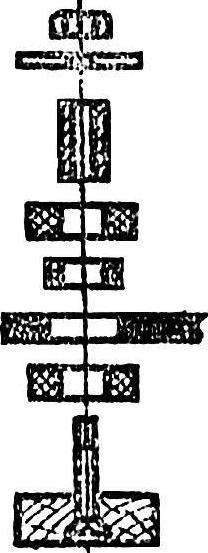 Детали амортизированной подвески моторамы.