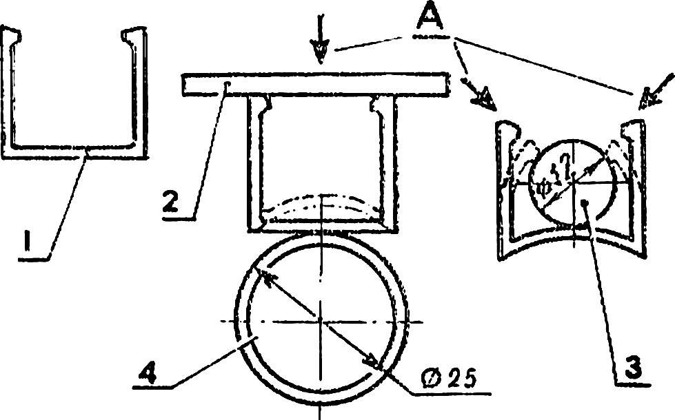 Fig. 10. The scheme of manufacturing the face-groove.